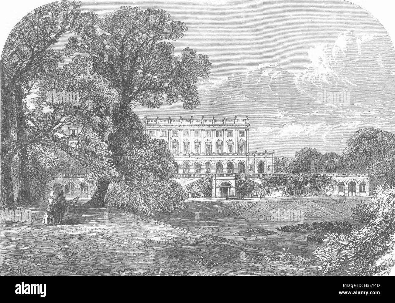 BUCKS Cliveden 1866. Illustrated London News - Stock Image