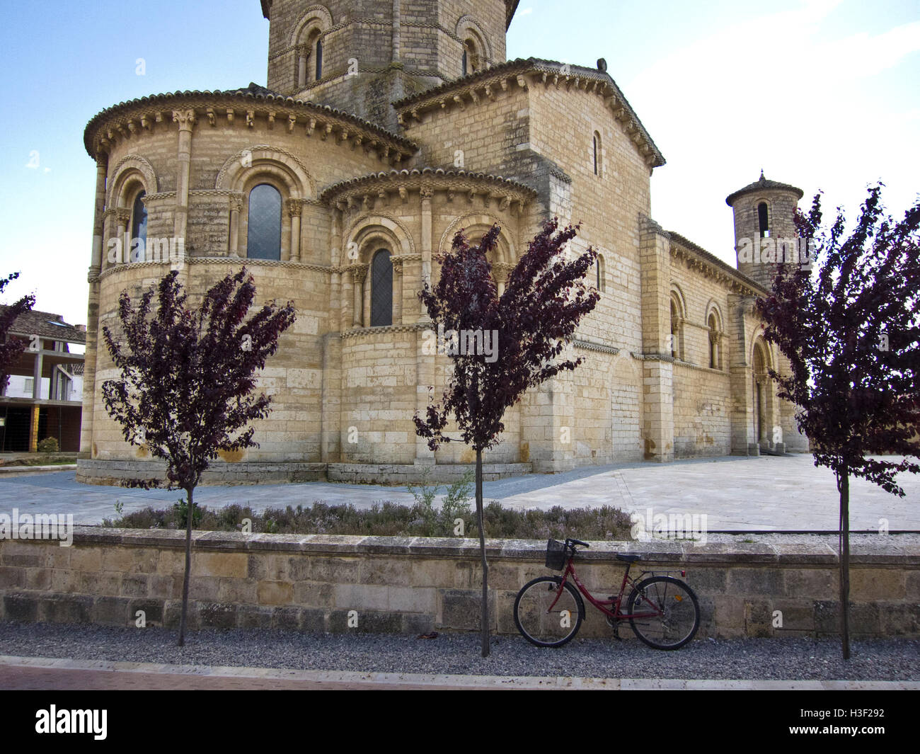 Church of San Martin in the town of Fromista along the Camino de Santiago, route Frances - Stock Image