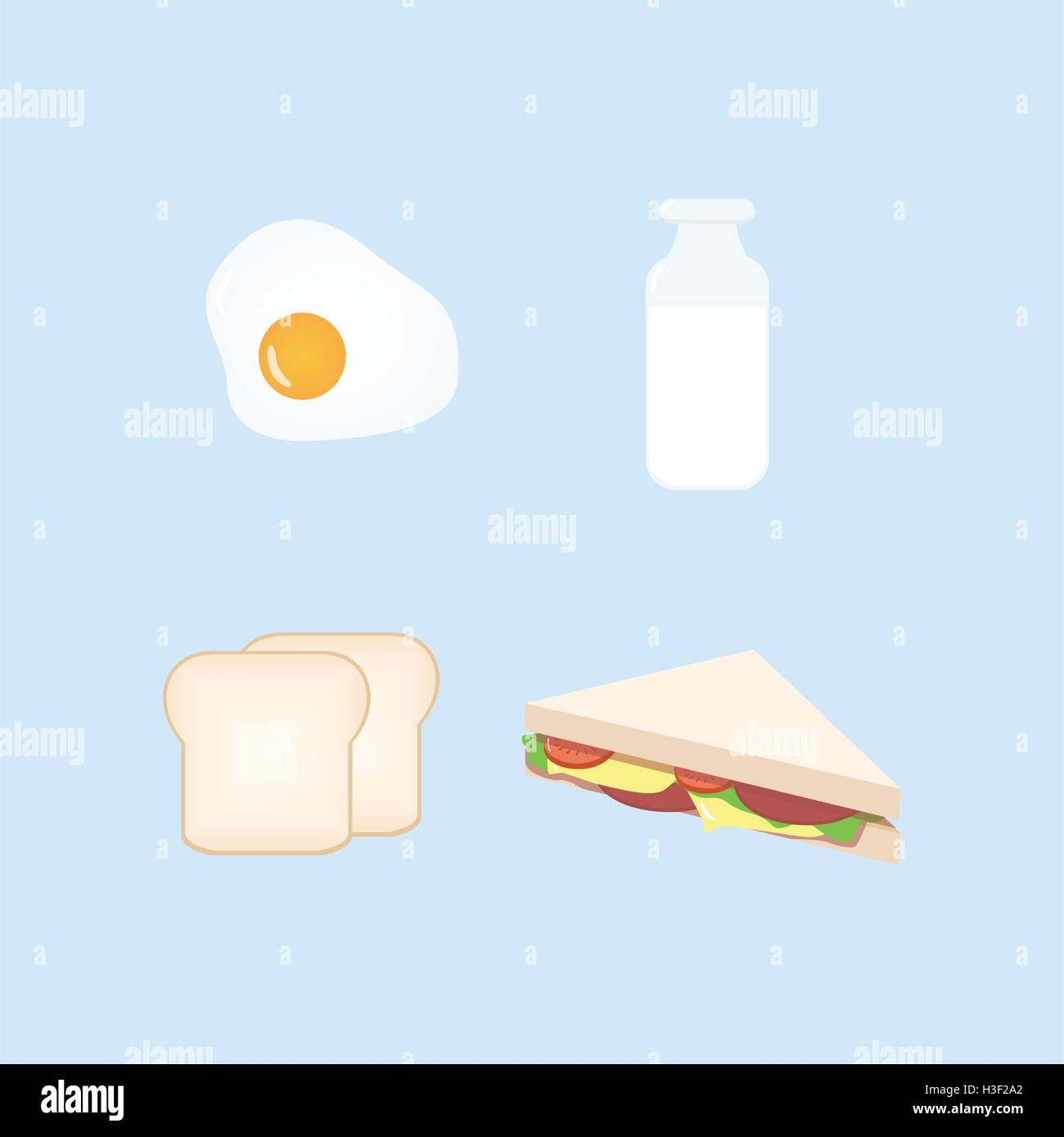 Breakfast Design Set Vector Illustration Stock Vector