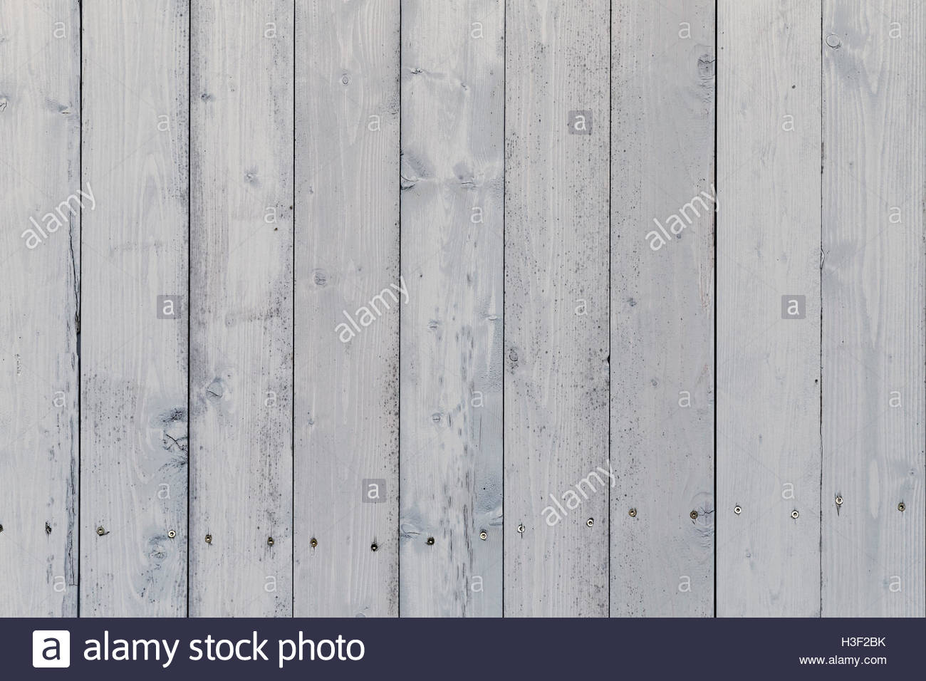 white painted planks as background - Stock Image
