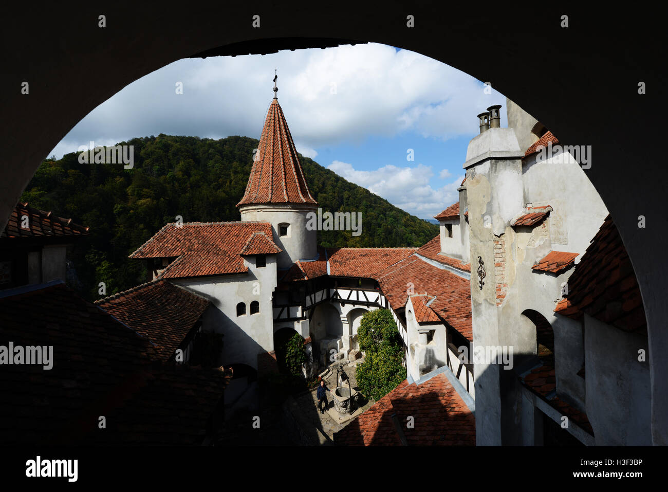 The beautiful Bran castle in Transylvania, Romania. - Stock Image