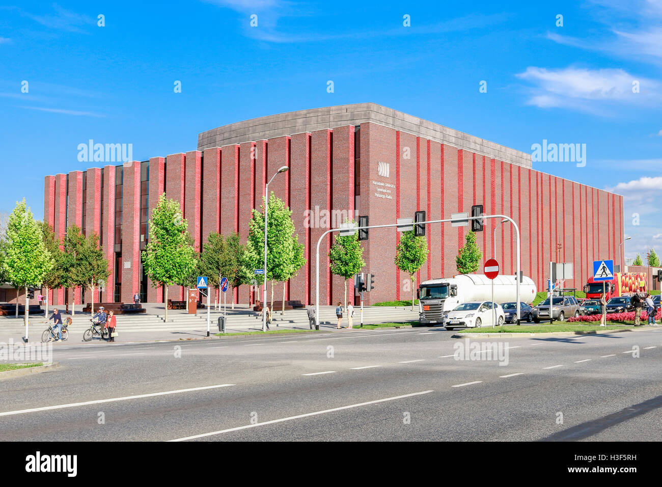 Polish National Radio Symphony Orchestra building in Katowice, Poland. Stock Photo