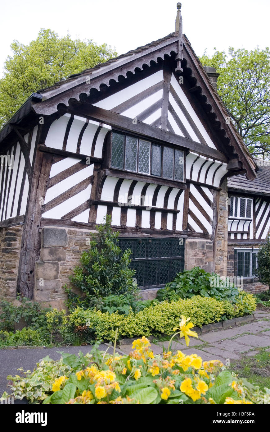 Sheffield, UK 03 May 2014: The Bishops' House on 03 May 2014 in Meersbrook Park, Sheffield, UK. A Tudor timber - Stock Image