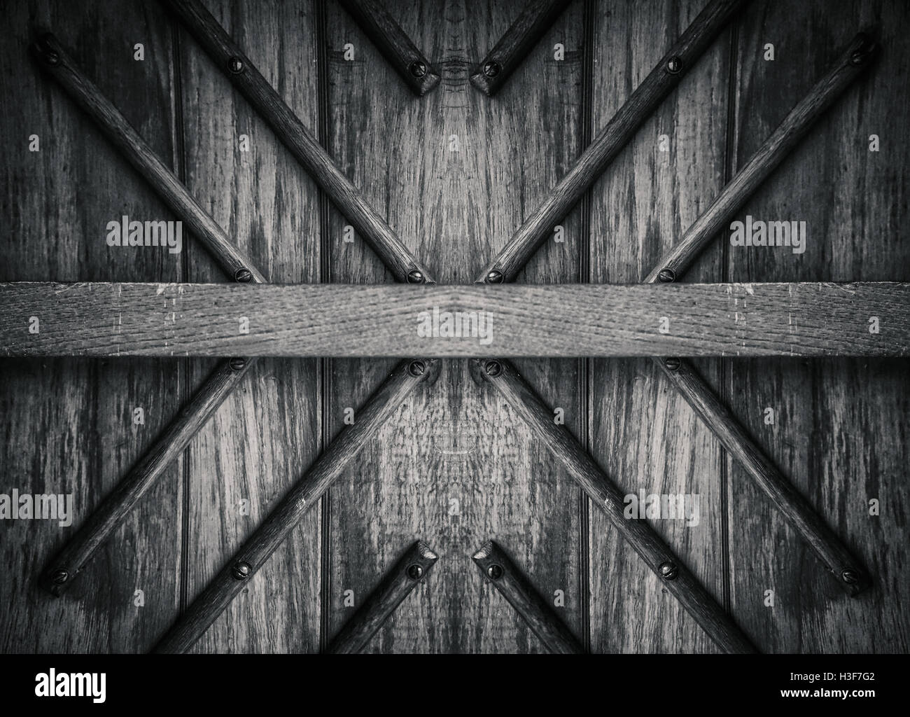 An abstract wooden and symmetric background texture. - Stock Image