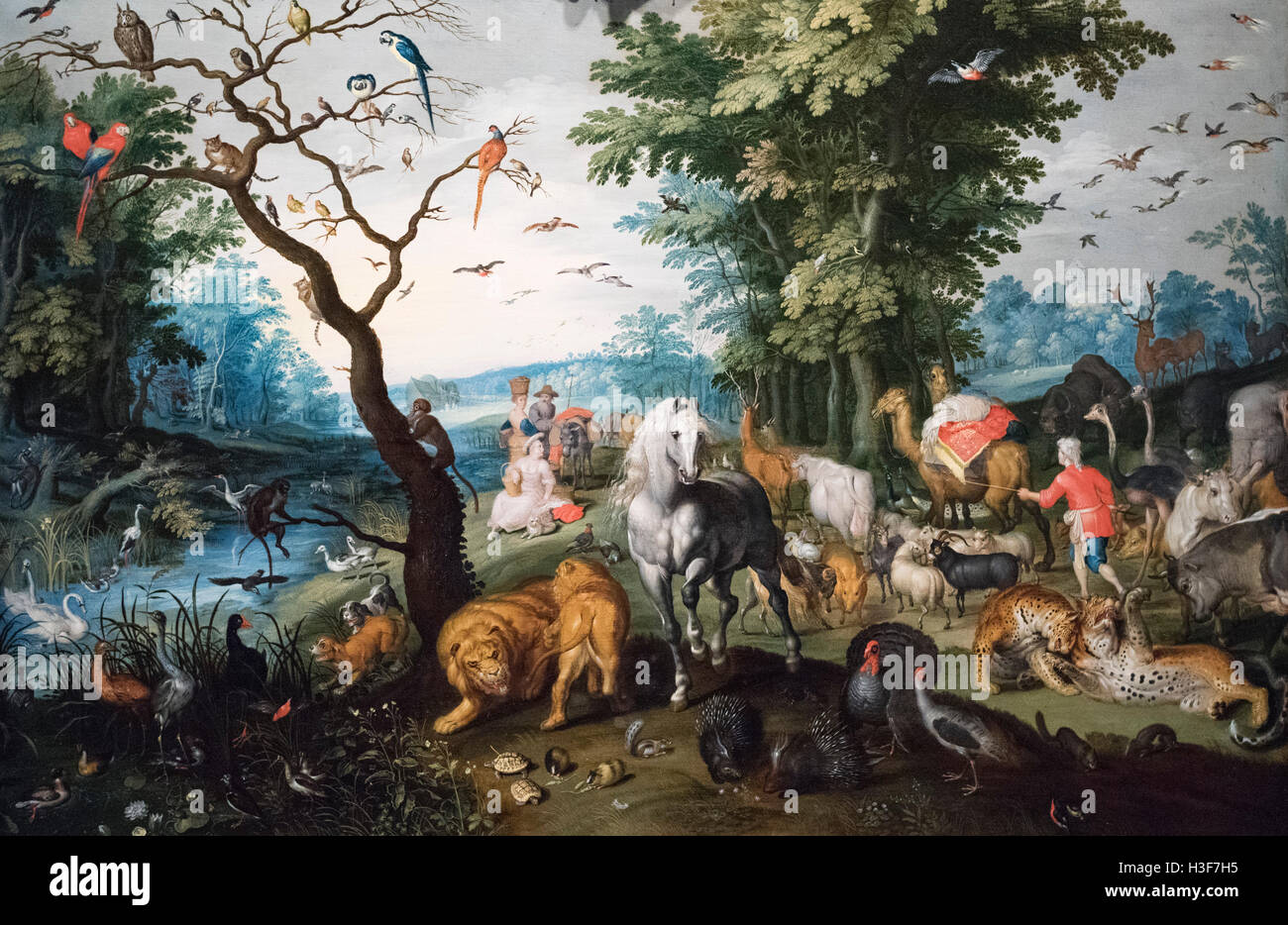 Jan Brueghel the Younger (1601-1678), The Animals Entering Noah's Ark, mid 17th century. - Stock Image