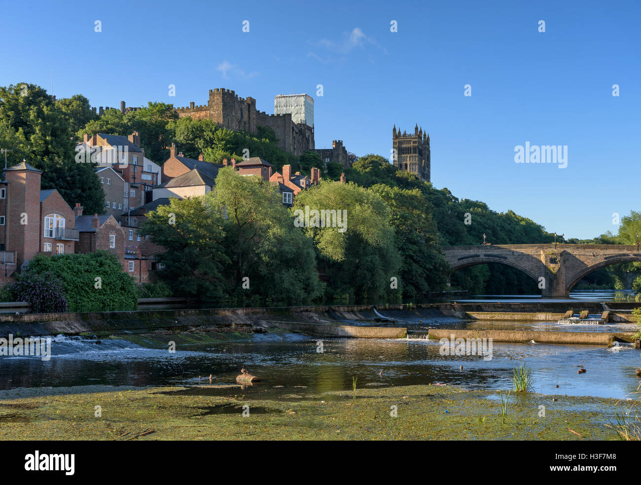 Durham City a historic town by the river wear, England. - Stock Image