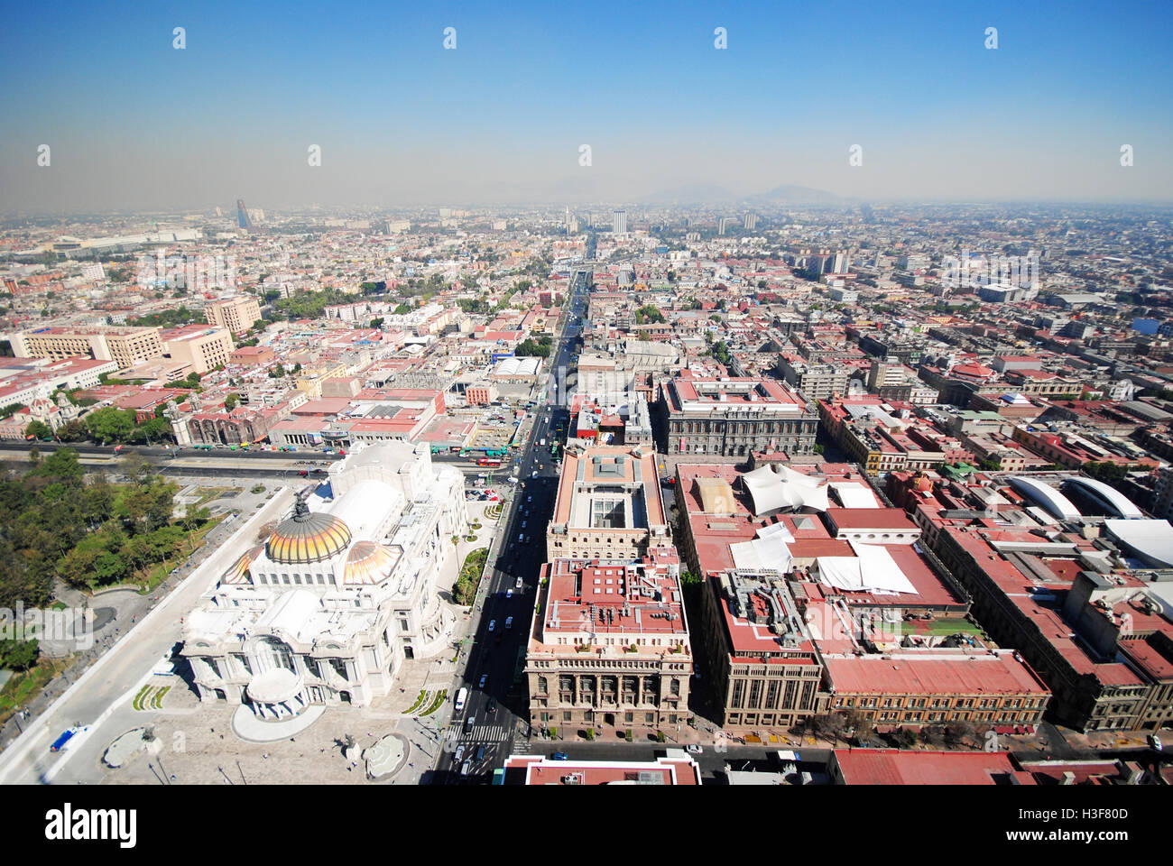 Panorama of Mexico City DF, the Capital - Stock Image