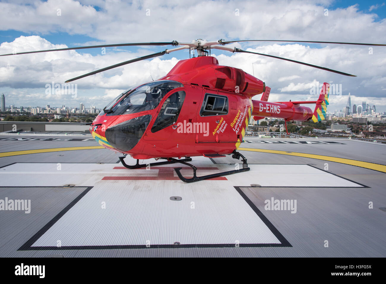 Air Ambulance Helicopter London - Stock Image