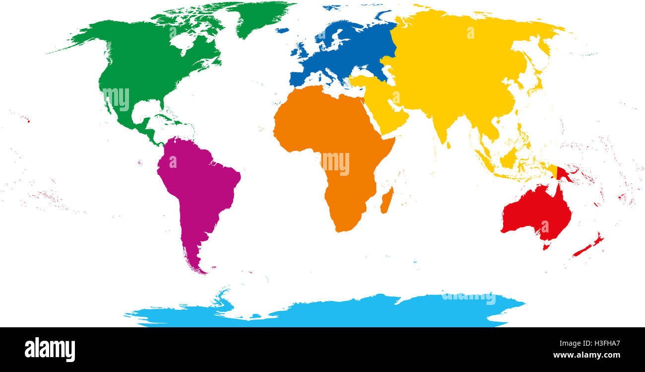 Seven continents map. Robinson projection over white. Illustration on model of map, set of map, photography of map, drawing of map, map of map, animation of map, texture of map, element of map, depression of map, shape of map, scale of map, type of map, view of map, orientation of map,