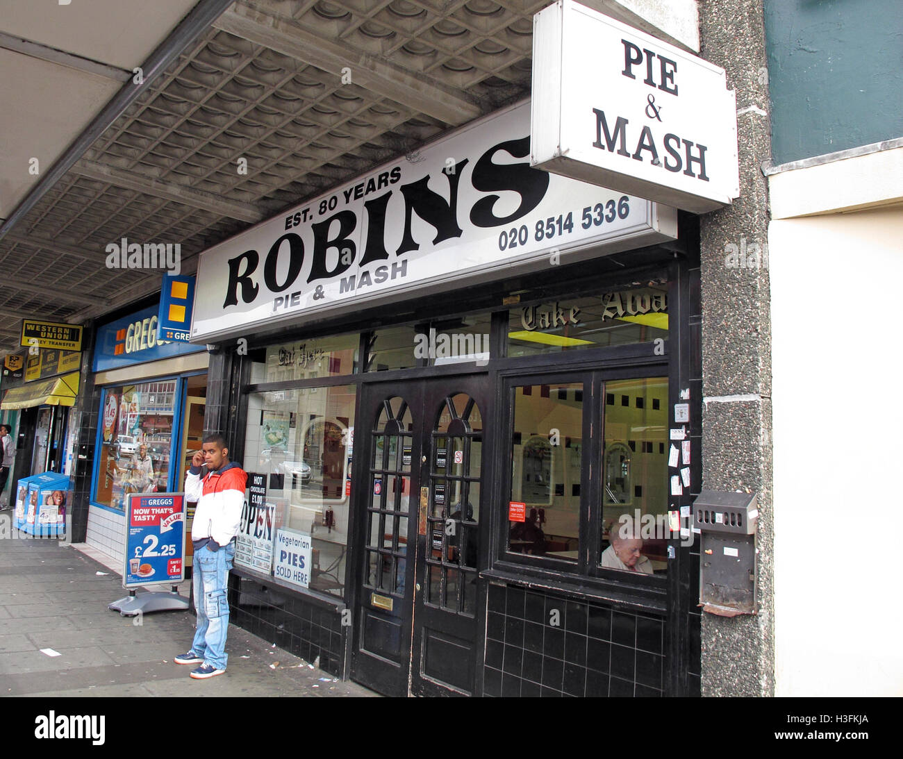Robins traditional Pie & Mash, Ilford Essex, Greater London, England - Stock Image