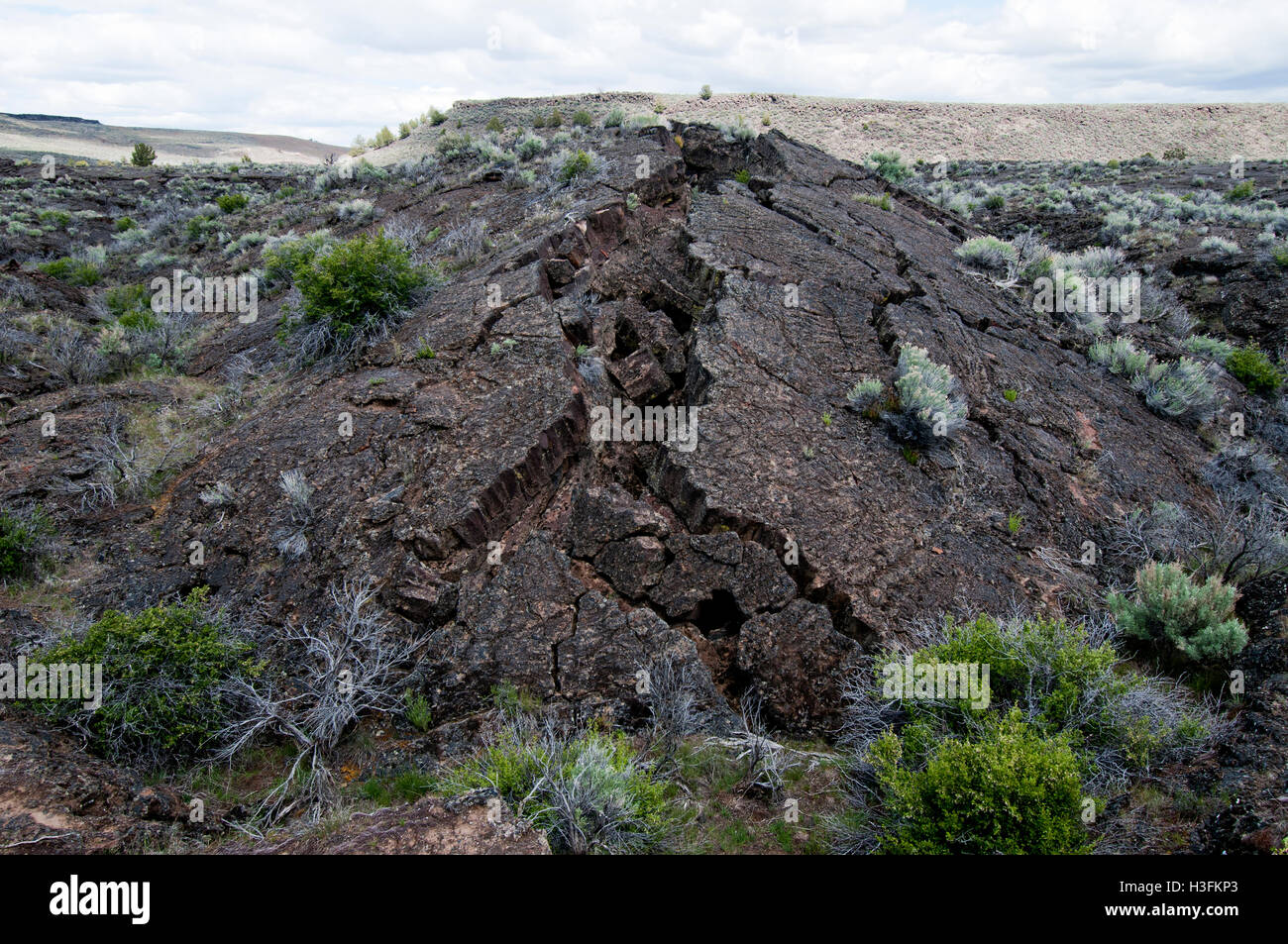 tumuli (lava dome) near Diamond Craters in southeastern Oregon - Stock Image