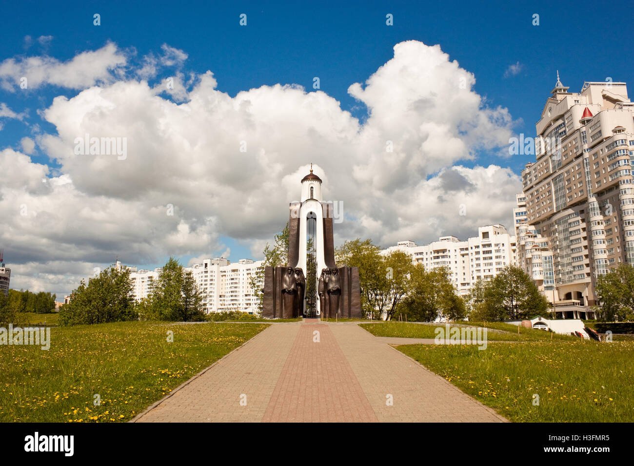 Chapel on the Isle of Tears -  a memorial to soviet soldiers who died in the war with Afghanistan in 1979-1989. - Stock Image