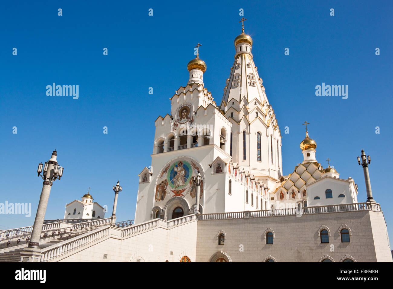 All saints orthodox  church in MInsk, Belarus - Stock Image