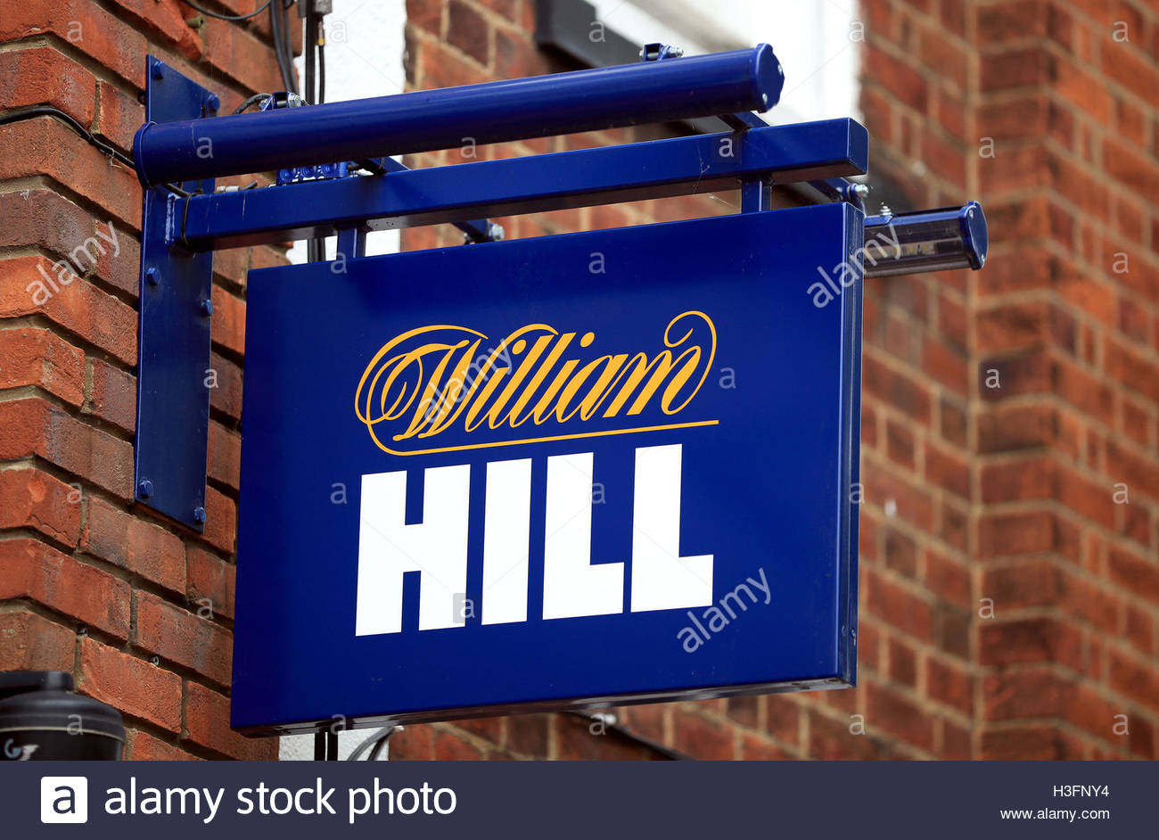 File photo dated 18/09/16 of a William Hill sign outside a shop, as Britain's biggest high street bookmaker has Stock Photo