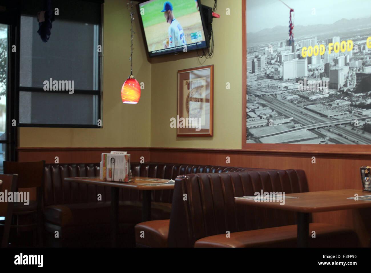 American diner in Las Vegas - Stock Image