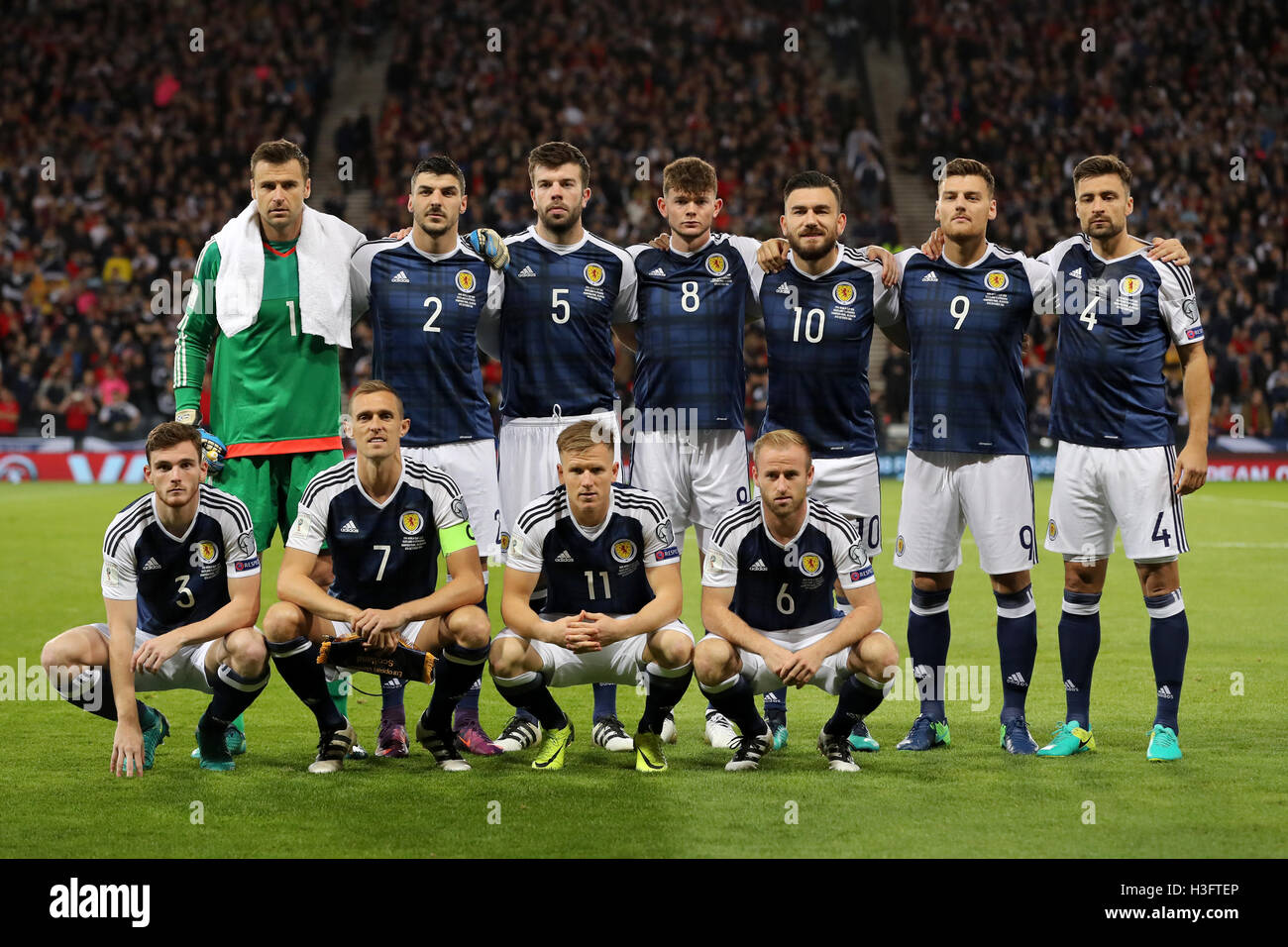 A Scotland team group photo during the 2018 FIFA World Cup ...