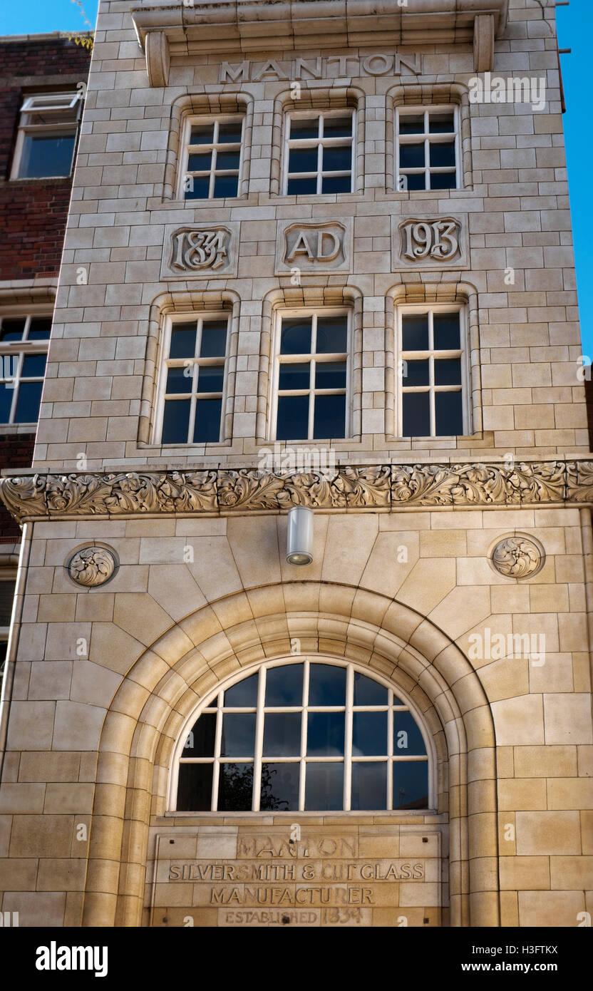 Buildings in the Jewellery Quarter, Birmingham, England, UK - Stock Image