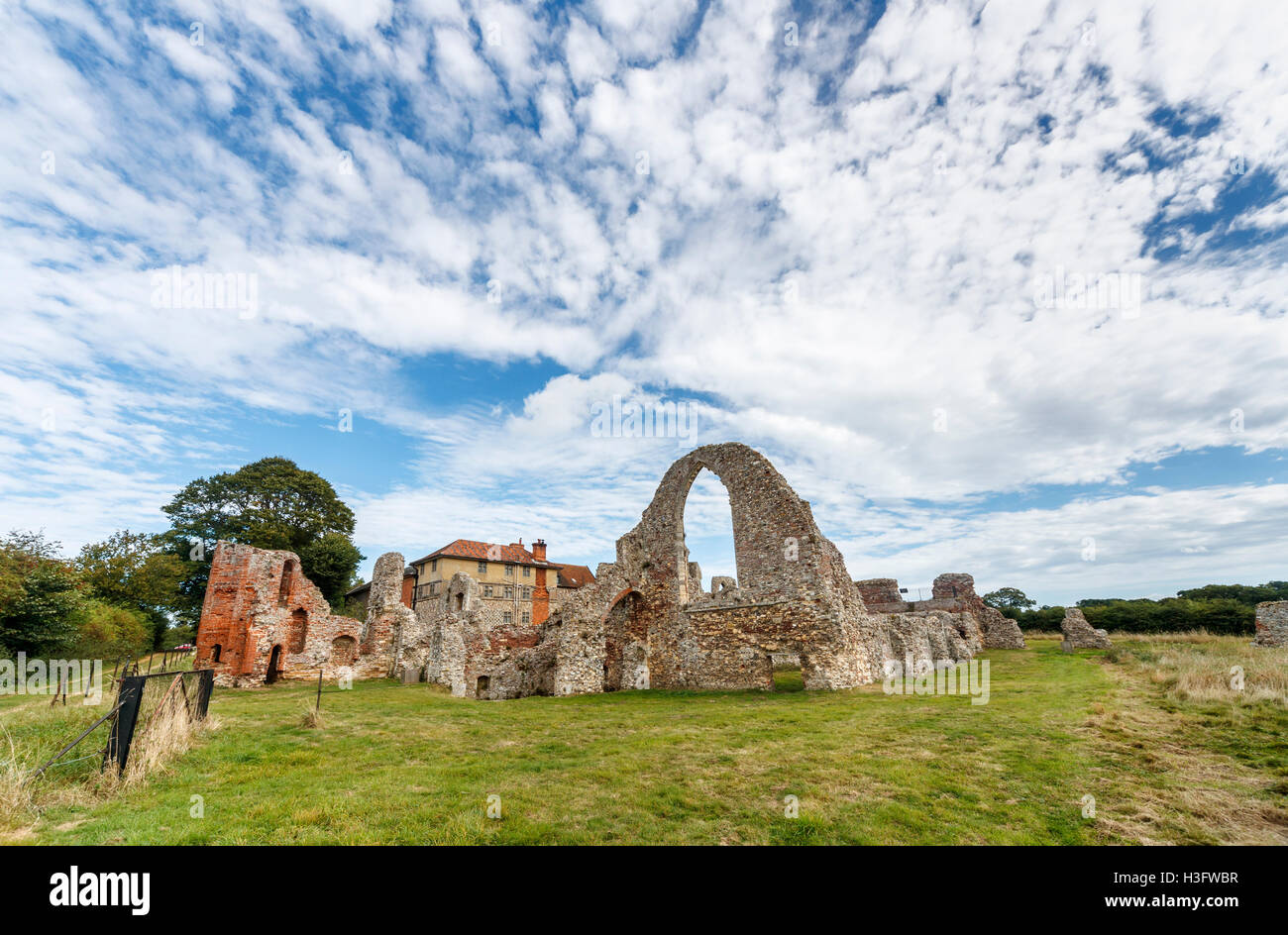 14th century ruins of Leiston Abbey, an abbey of Premonastratensian canons - Stock Image