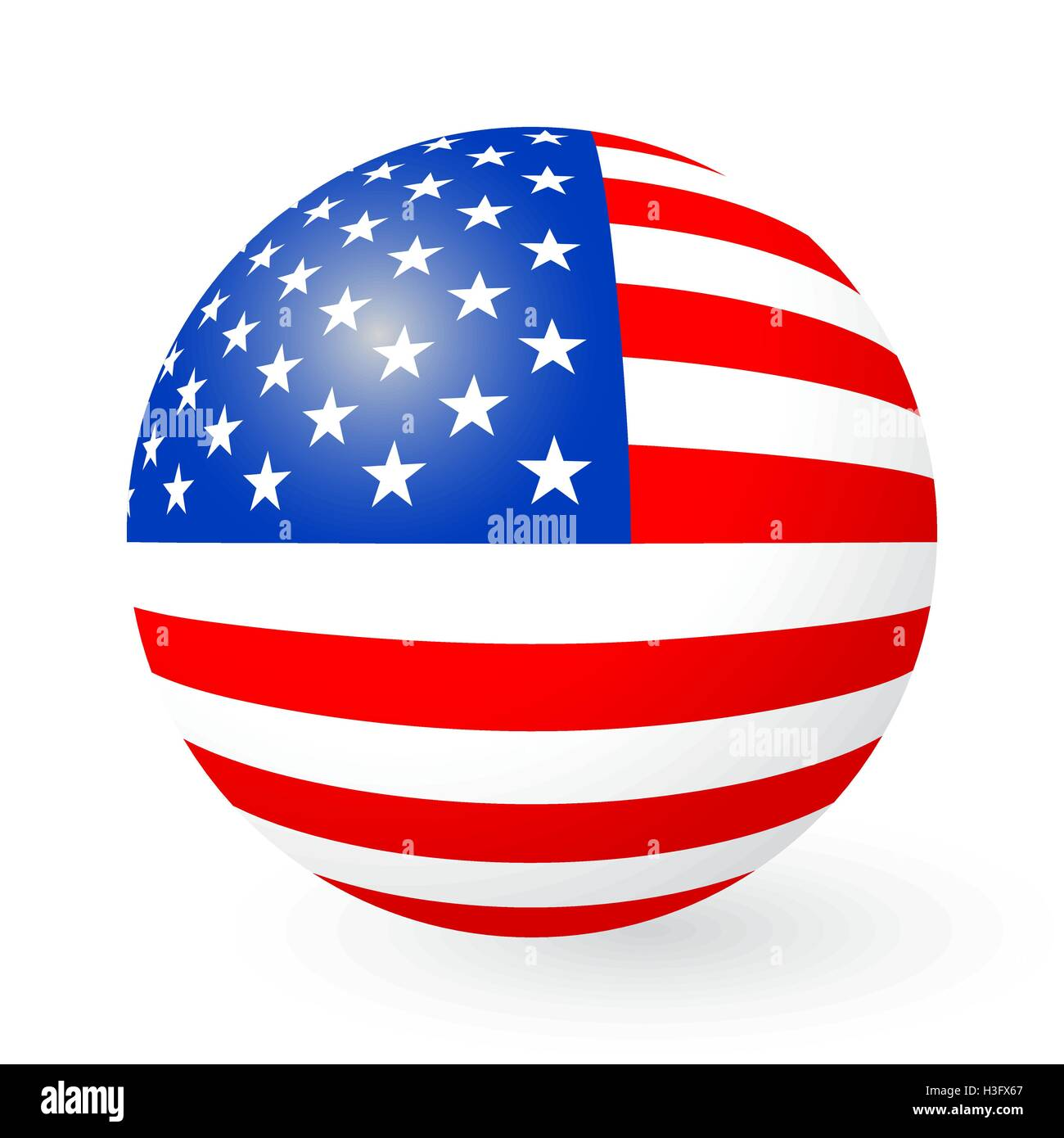 Stars and Stripes button and sticker - Stock Vector