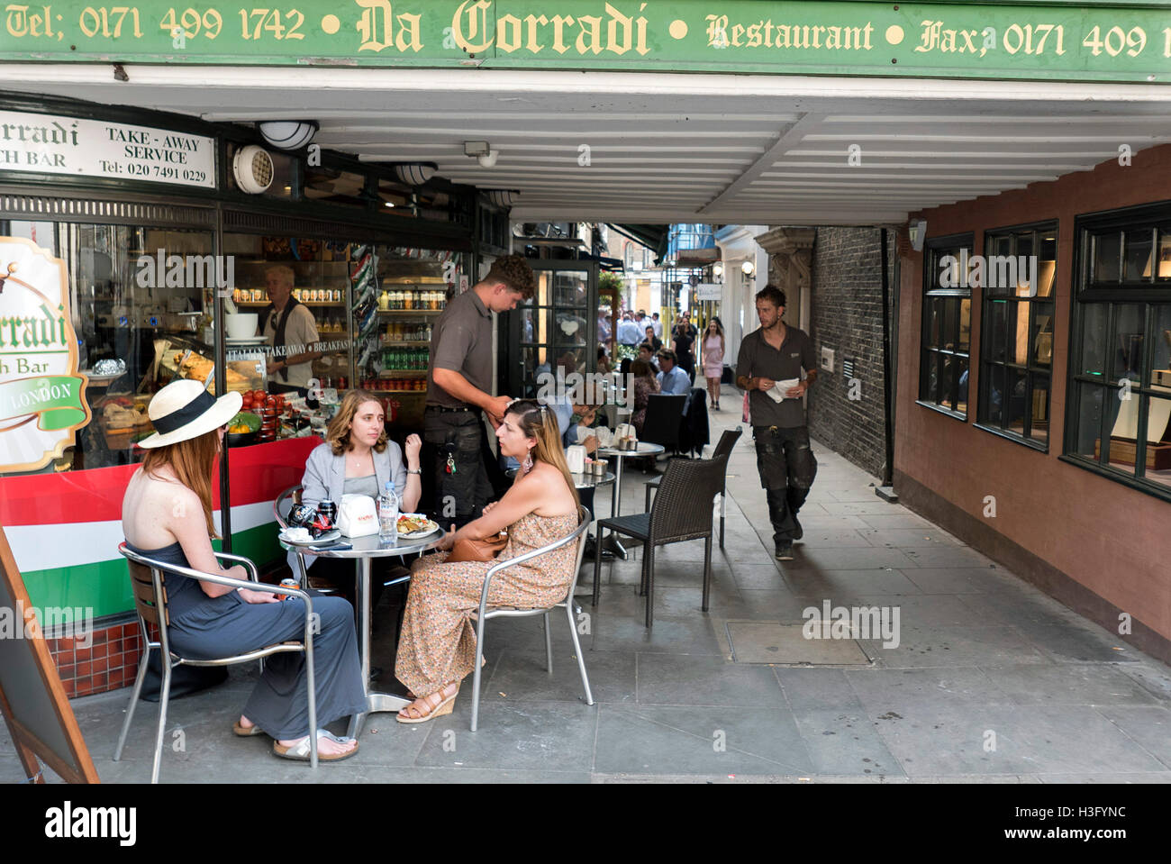 Cafe life at Shepherds Market Mayfair London - Stock Image