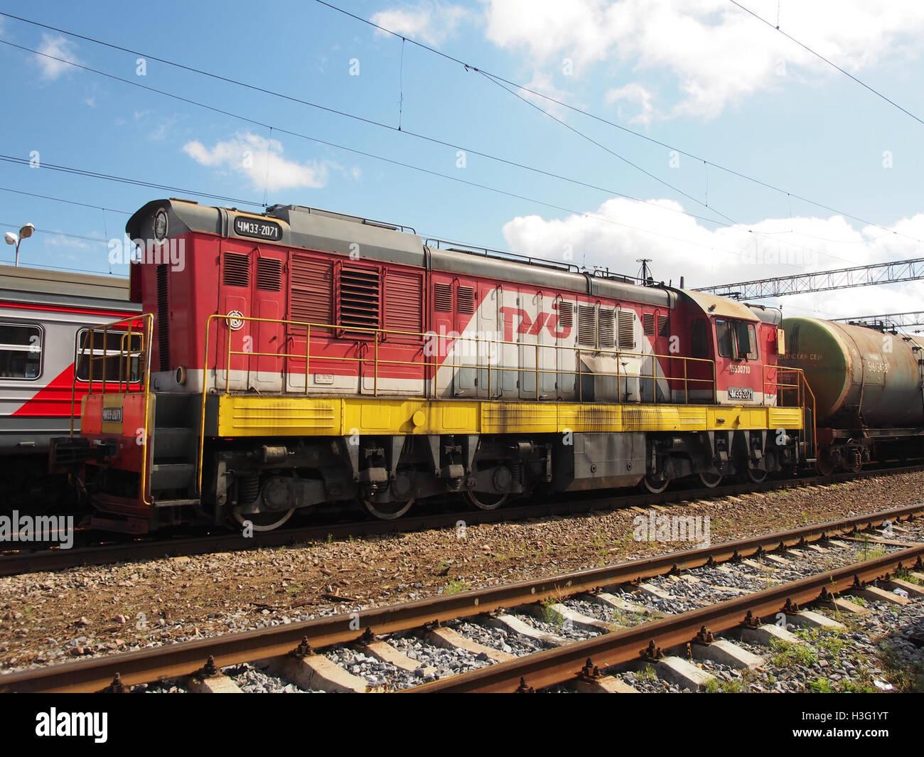 ChME3-2071 at Monino station (2) - Stock Image