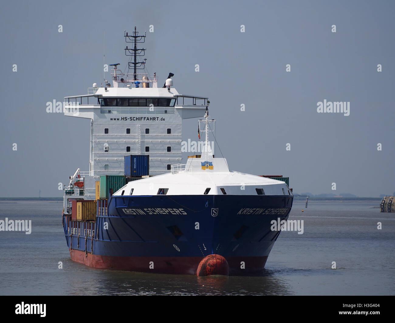 Kristin Schepers (ship, 2007) IMO 9404089 Callsign 5BPU2 Port of Antwerp pic1 Stock Photo