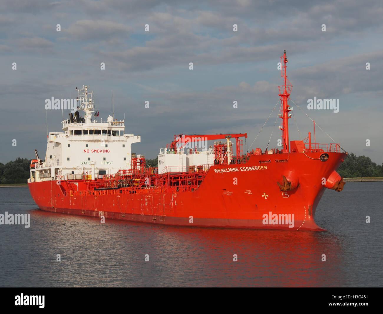 Wilhelmine Essberger (ship, 2005) IMO 9295440 Port of Antwerp pic1 - Stock Image