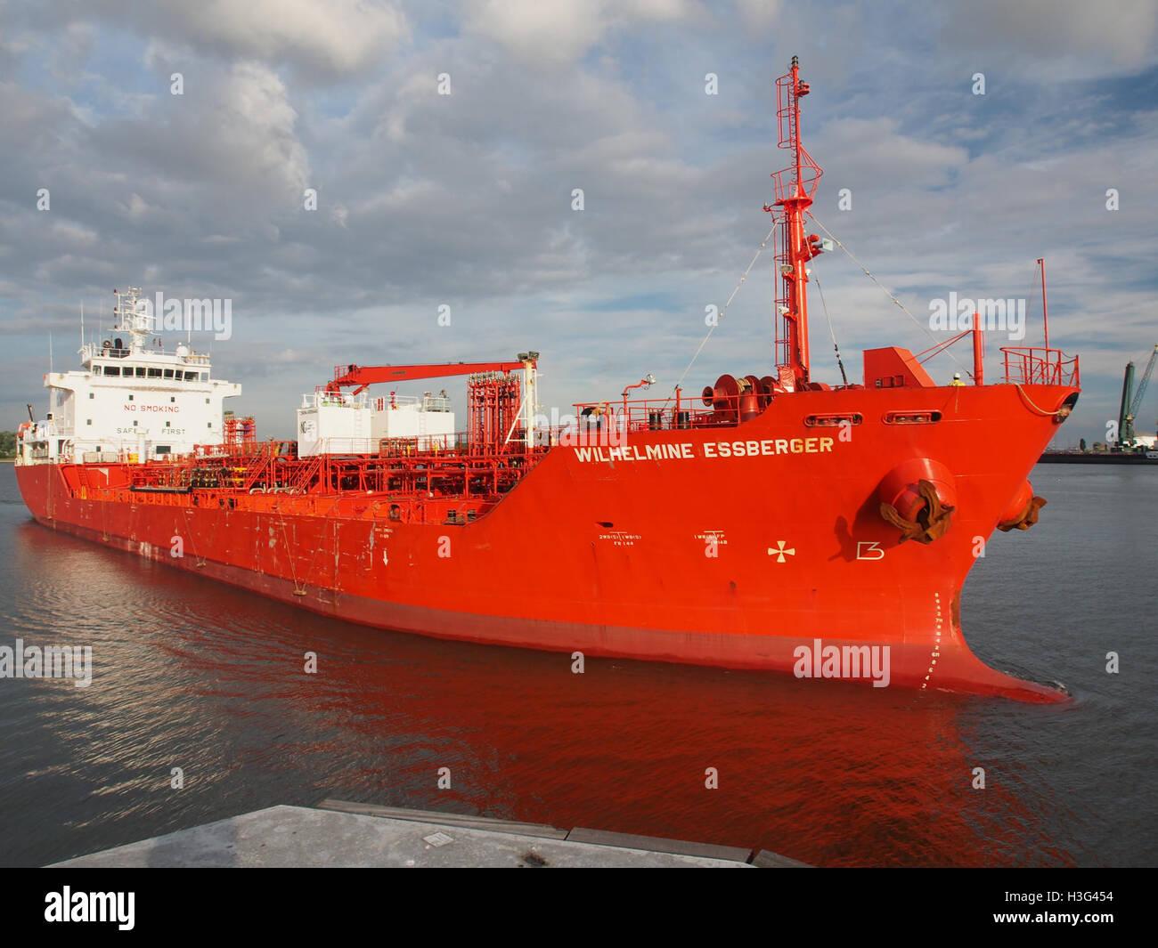 Wilhelmine Essberger (ship, 2005) IMO 9295440 Port of Antwerp pic3 - Stock Image