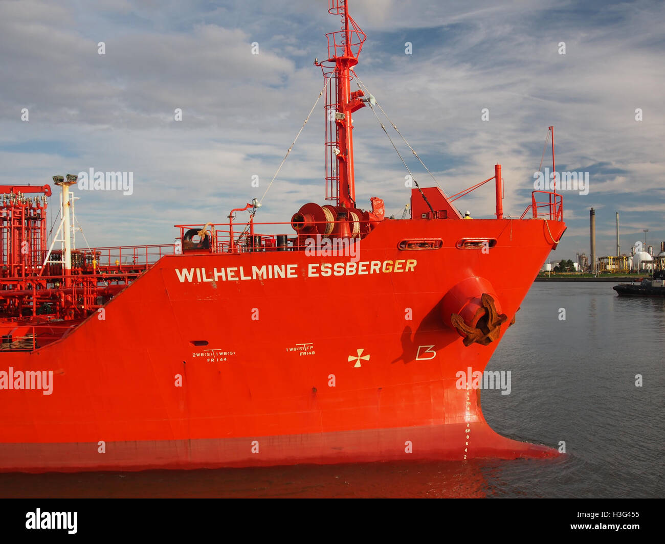 Wilhelmine Essberger (ship, 2005) IMO 9295440 Port of Antwerp pic4 - Stock Image