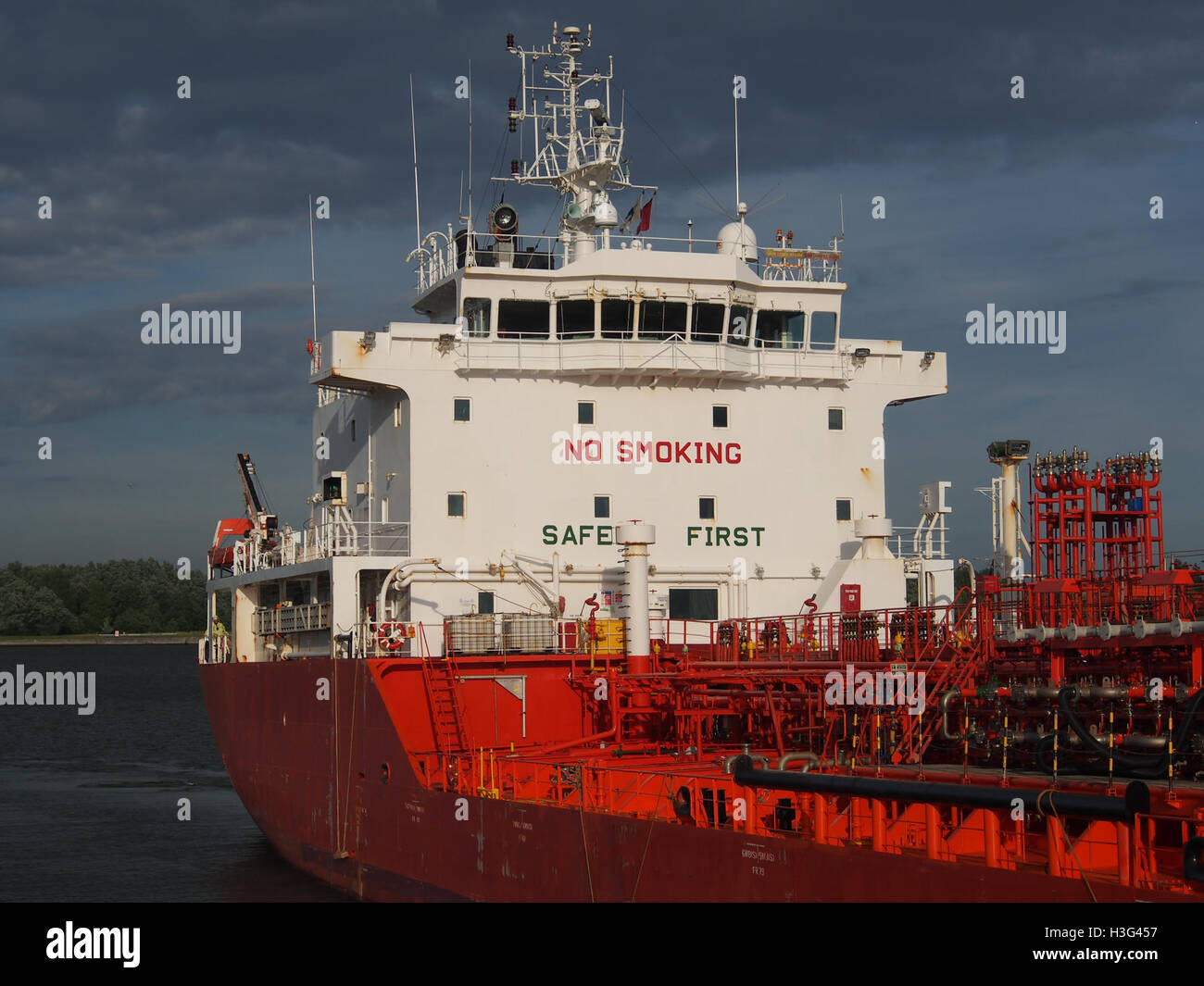 Wilhelmine Essberger (ship, 2005) IMO 9295440 Port of Antwerp pic5 - Stock Image