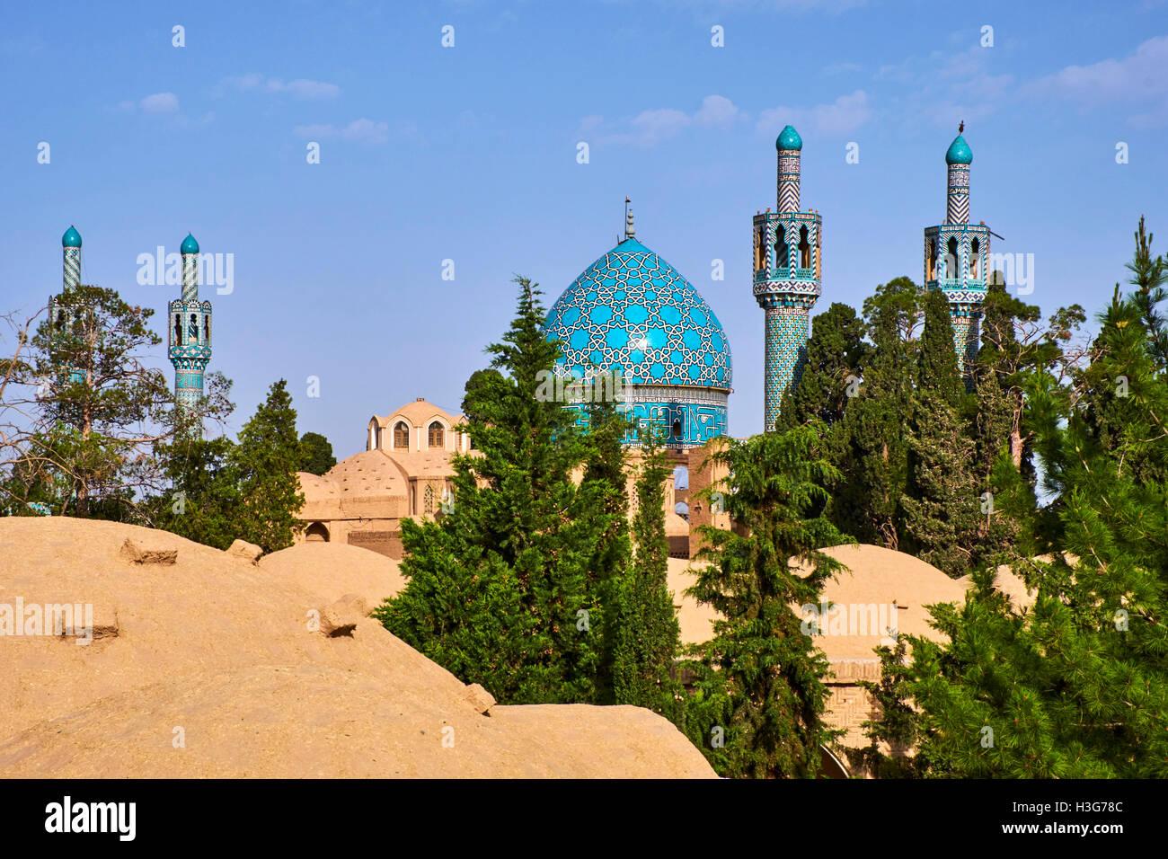 Iran, Kerman province, Mahan, tomb of sufi Shah Nematollah Wali - Stock Image