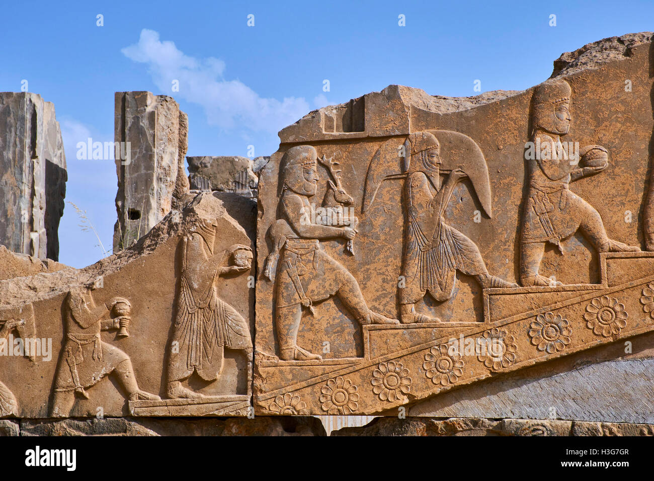 Iran, Fars Province, Persepolis, World Heritage of the UNESCO, Darius 1st palace - Stock Image