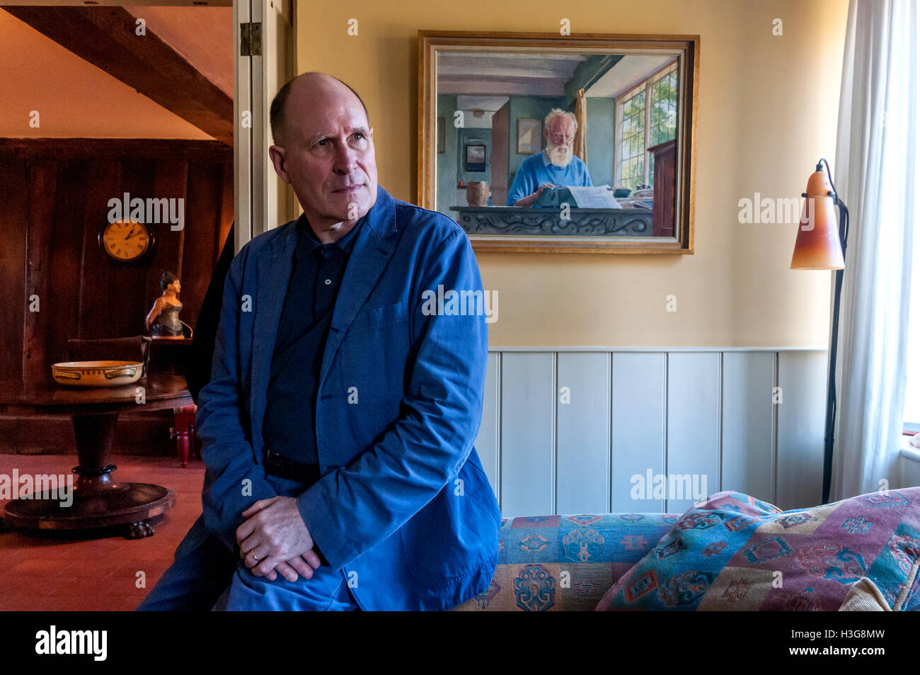 Screenplay writer and author William Nicholson, at his home in Barcombe, near Lewes, East Sussex. - Stock Image