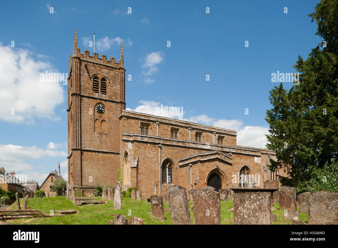 All Saints Church, Wroxton, North Oxfordshire, England, UK - Stock Image