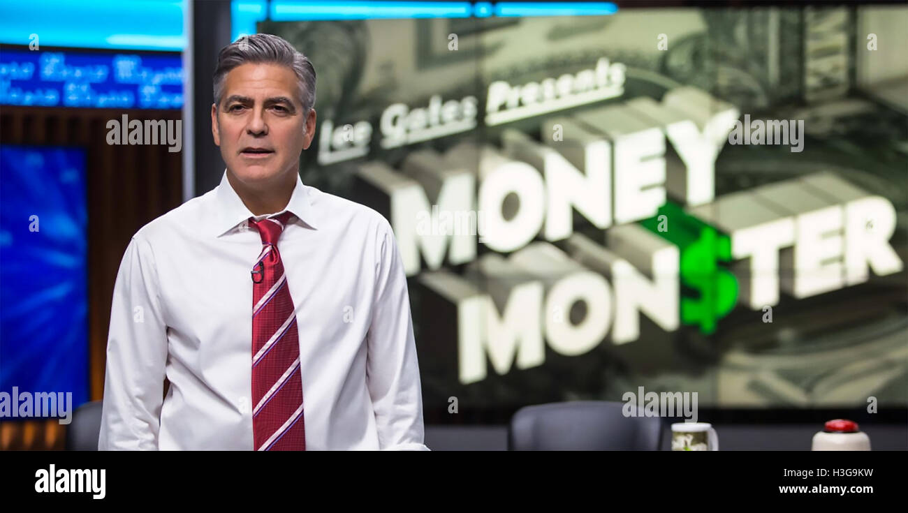 MONEY MONSTER  2016 TriStar film with George Clooney - Stock Image