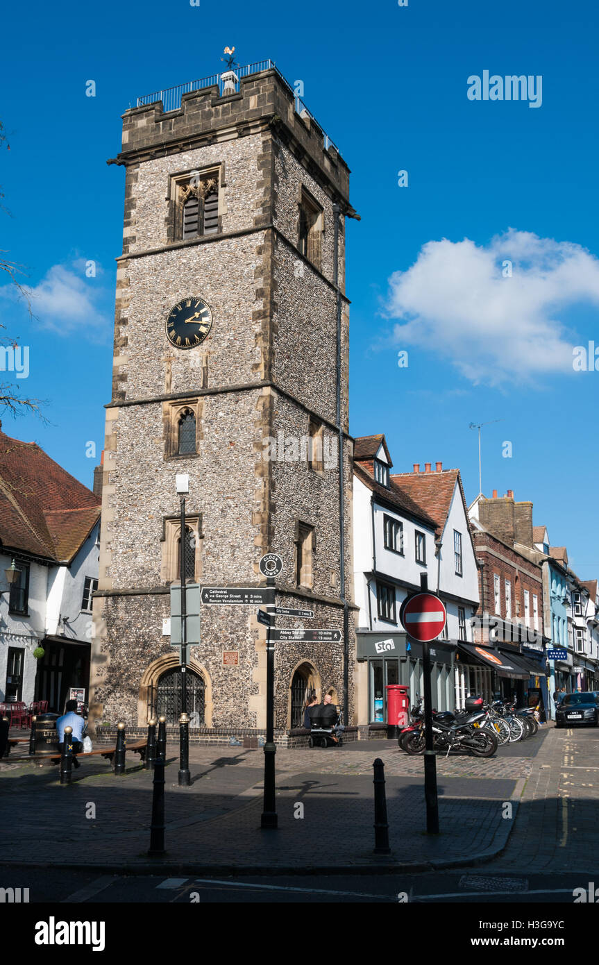 St Albans Clock Tower, United Kingdom Stock Photo