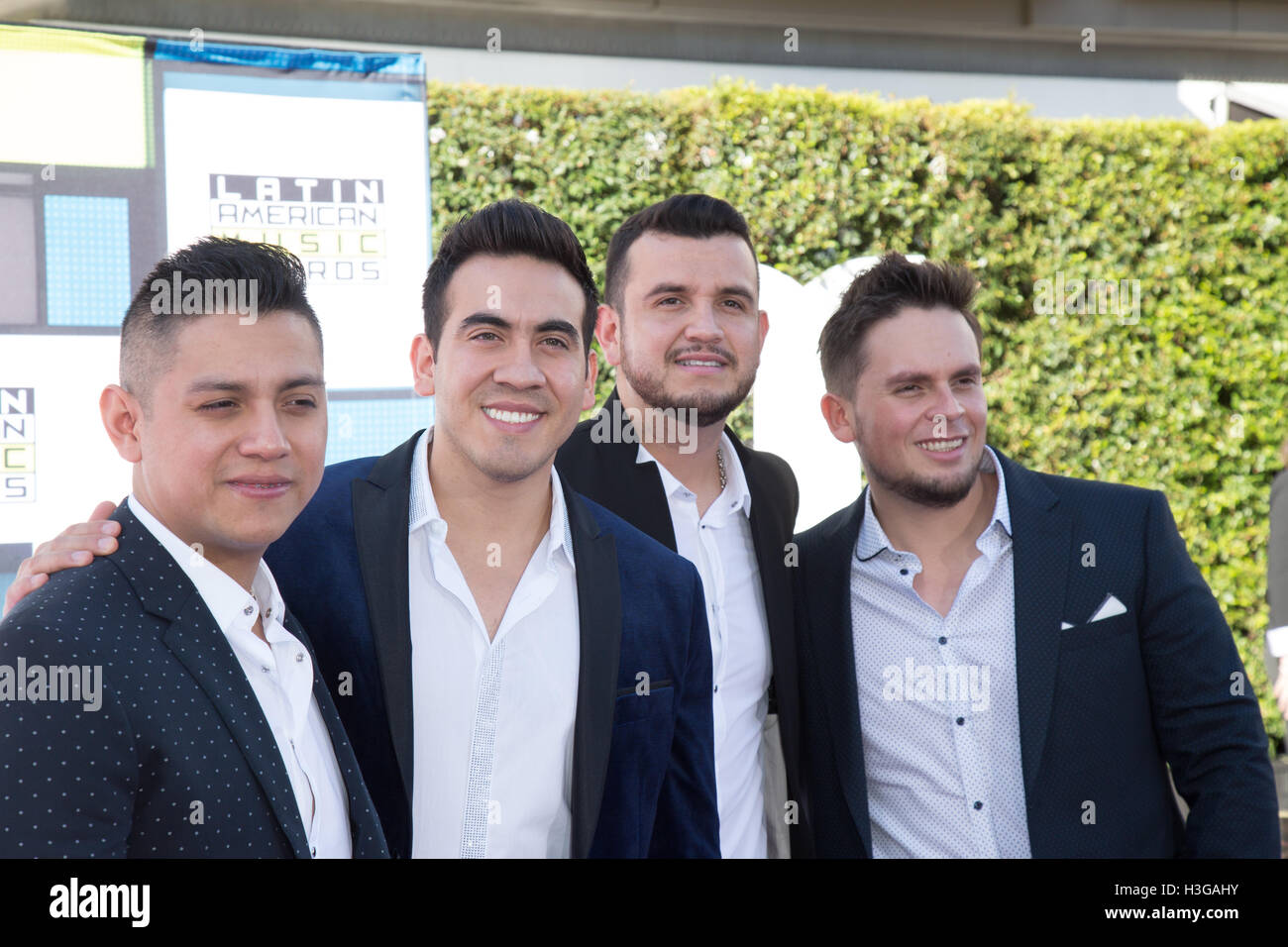 Hollywood, California, USA. 6th Oct, 2016. Calibre 50 attends the 2016 Latin American Music Awards at Dolby Theatre - Stock Image