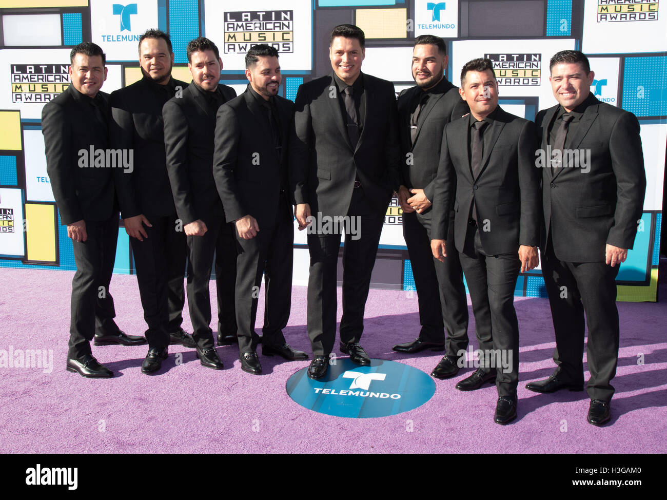 Hollywood, California, USA. 6th Oct, 2016. Banda MS attends the 2016 Latin American Music Awards at Dolby Theatre - Stock Image