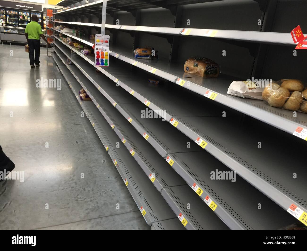 fort lauderdale florida usa 6th oct 2016 shelves usually stocked with