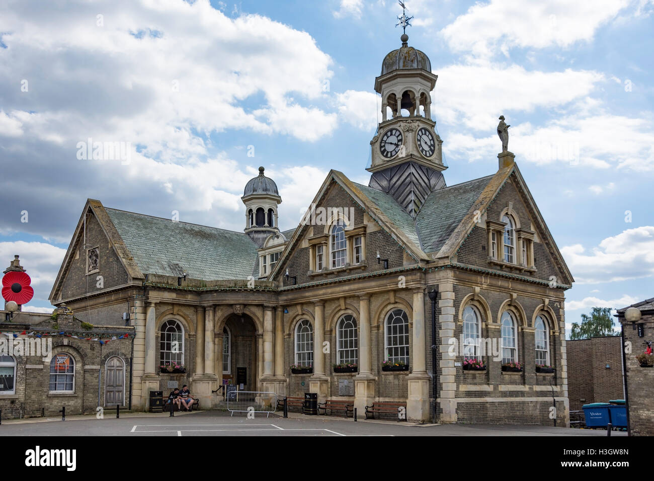 The Guildhall and Art Gallery, Market Place, Thetford, Norfolk, England, United Kingdom - Stock Image