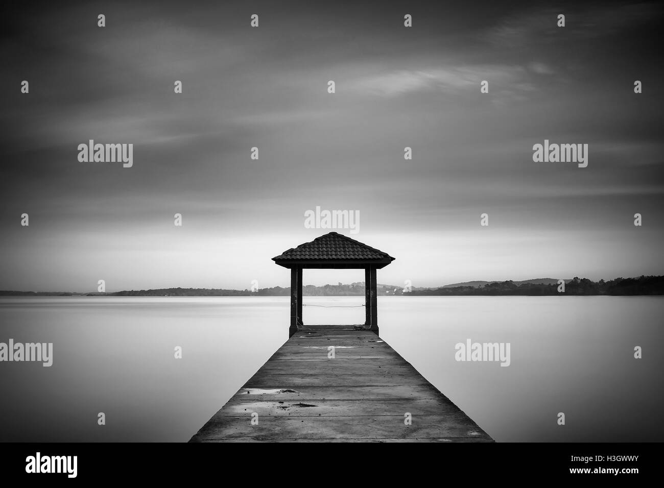 Minimalist image of Jetty - Stock Image