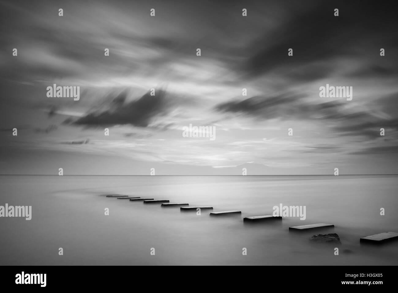 Long exposure image at Port Dickson - Stock Image
