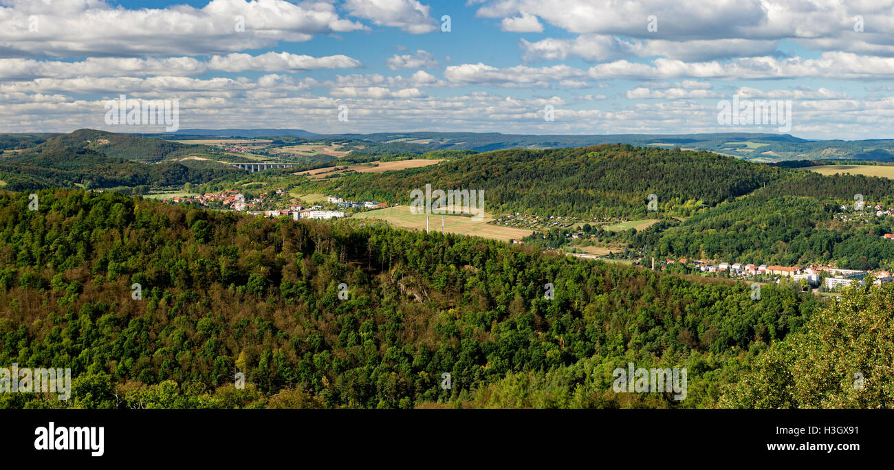 Stedtfeld - Thuringia, Germany - View from Wartburg - Stock Image