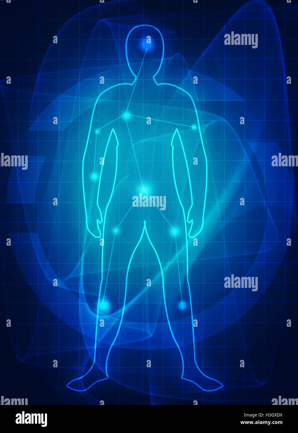human body medical future - Stock Image