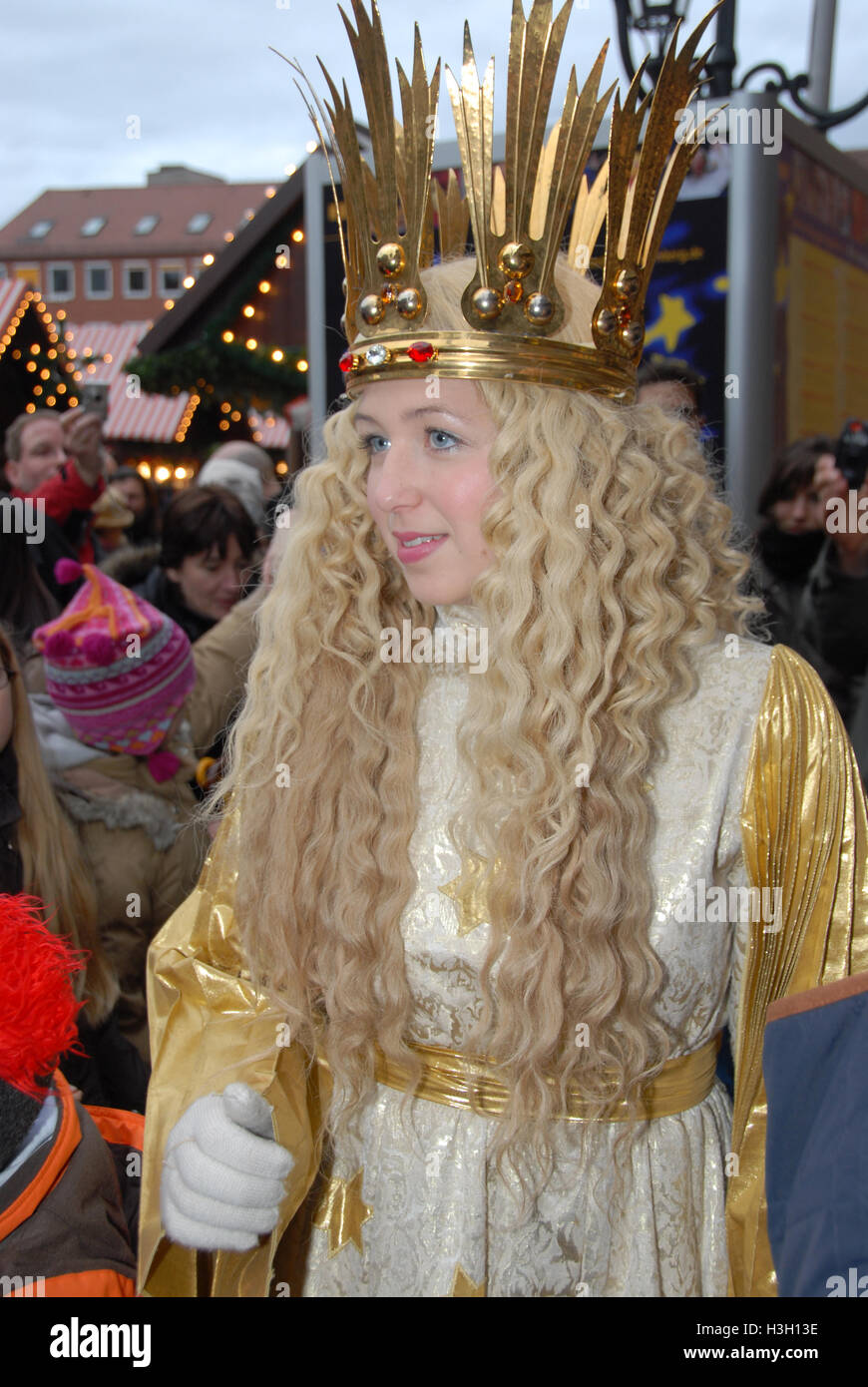 A young German girl crowned as...