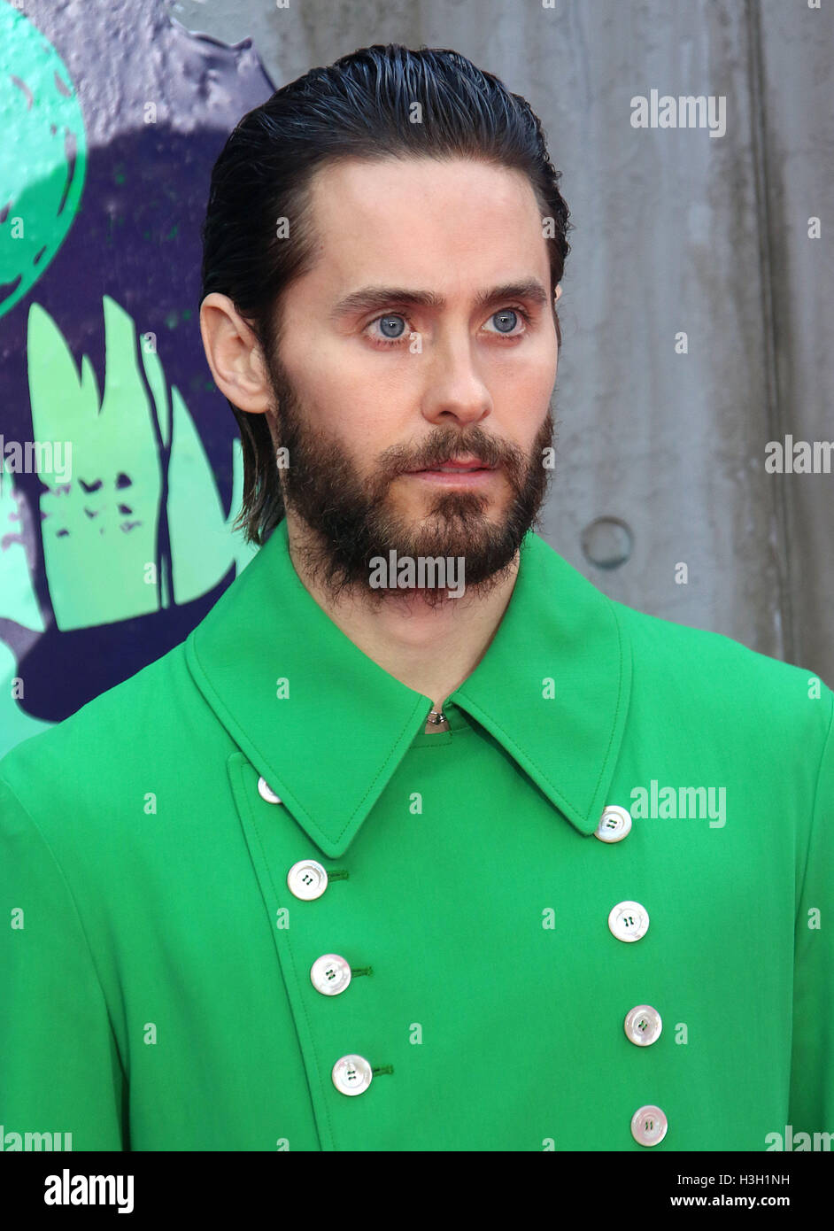 August 3, 2016 - Jared Leto attending 'Suicide Squad' European Premiere at Odeon, Leicester Square in London, - Stock Image