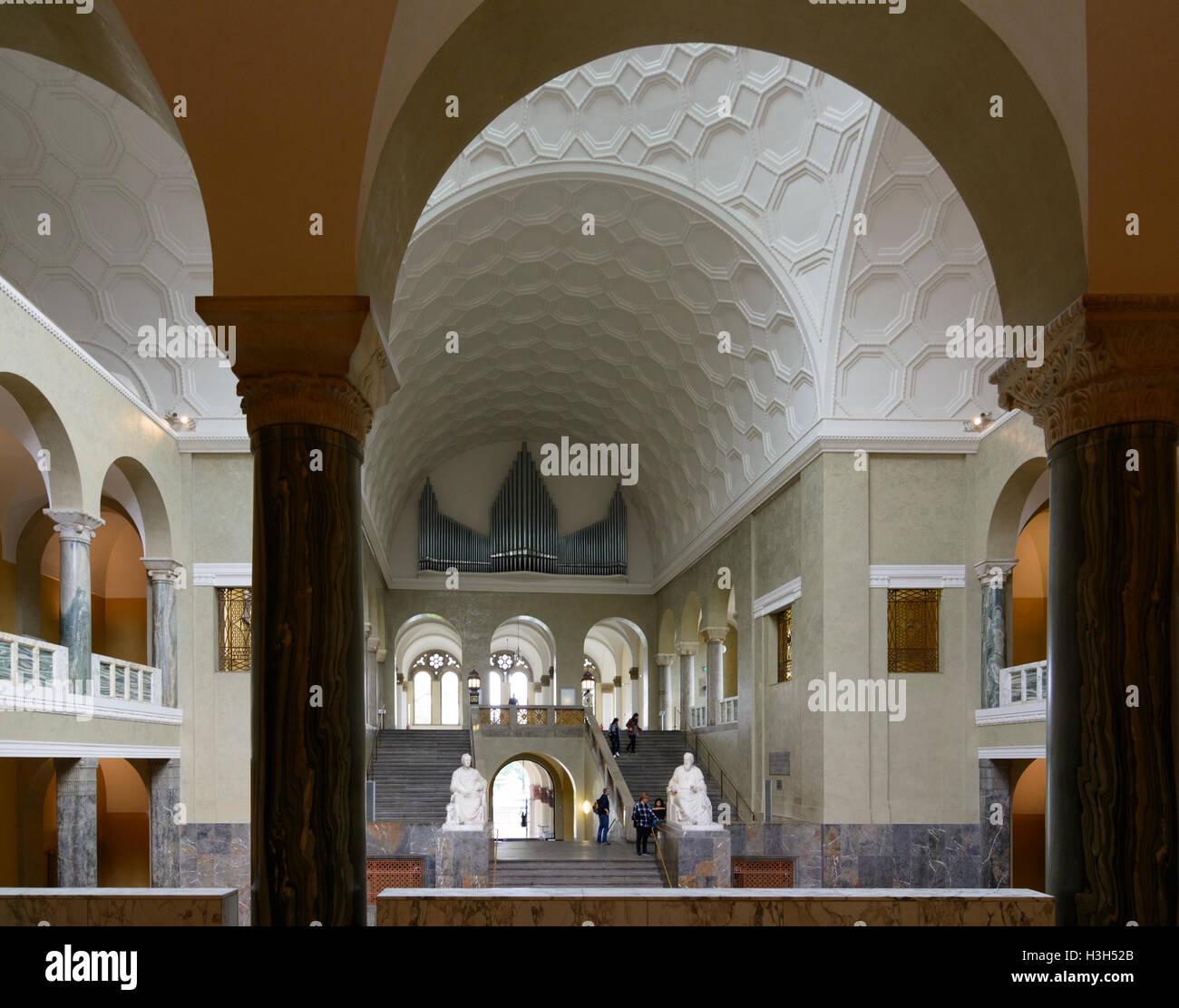 München, Munich: Ludwig-Maximilians-Universität (University), stairwell, Oberbayern, Upper Bavaria, Bayern, - Stock Image