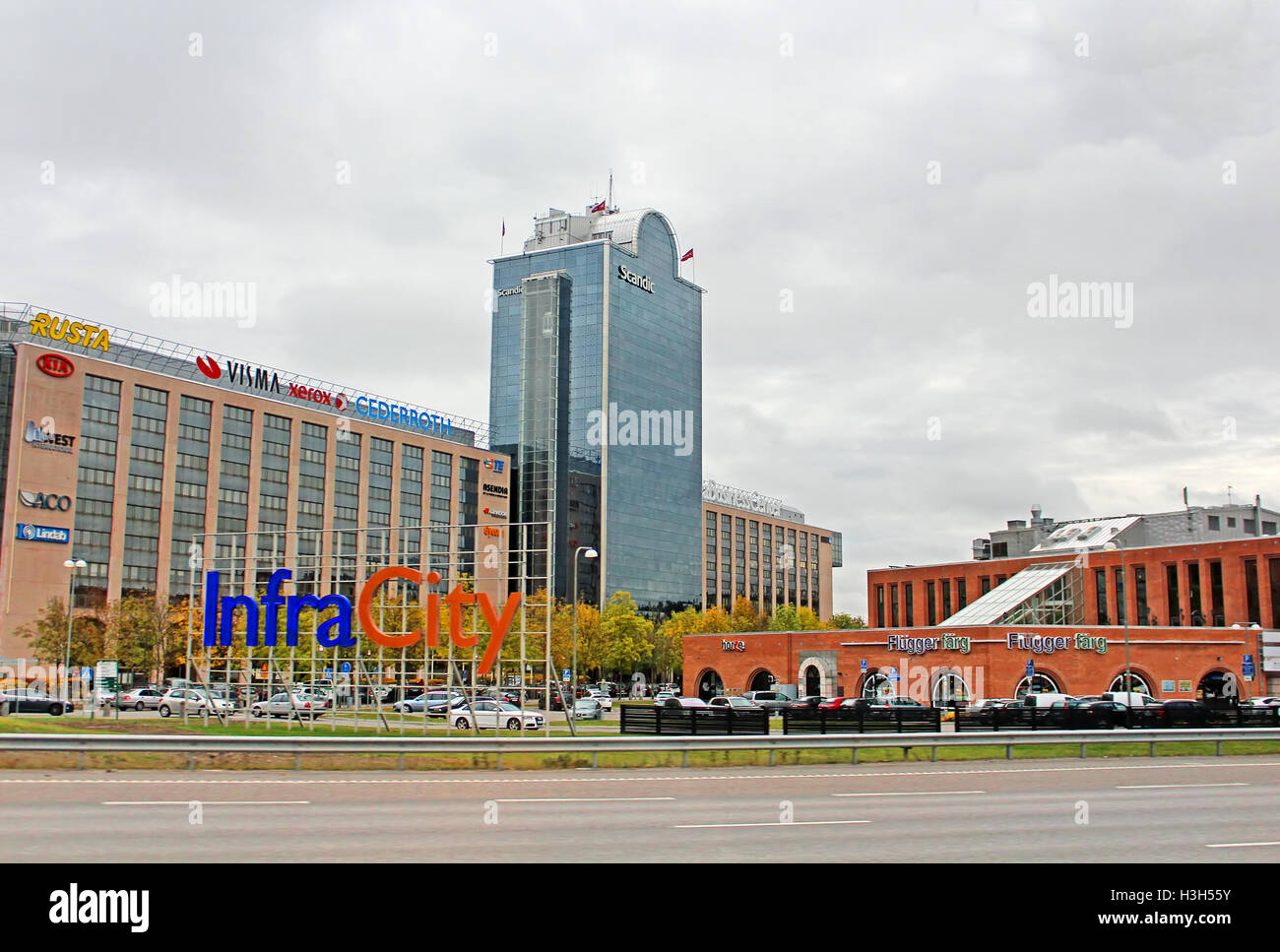 STOCKHOLM, SWEDEN - OCTOBER 17, 2013: InfraCity is a well-developed retail area in Stockholm - Stock Image