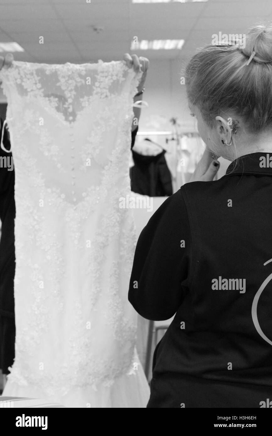 Cardiff, Wales. 16th Nov, 2015. Photographs taken at seamstresses in central Cardiff. ©AimeeHerd Freelance - Stock Image