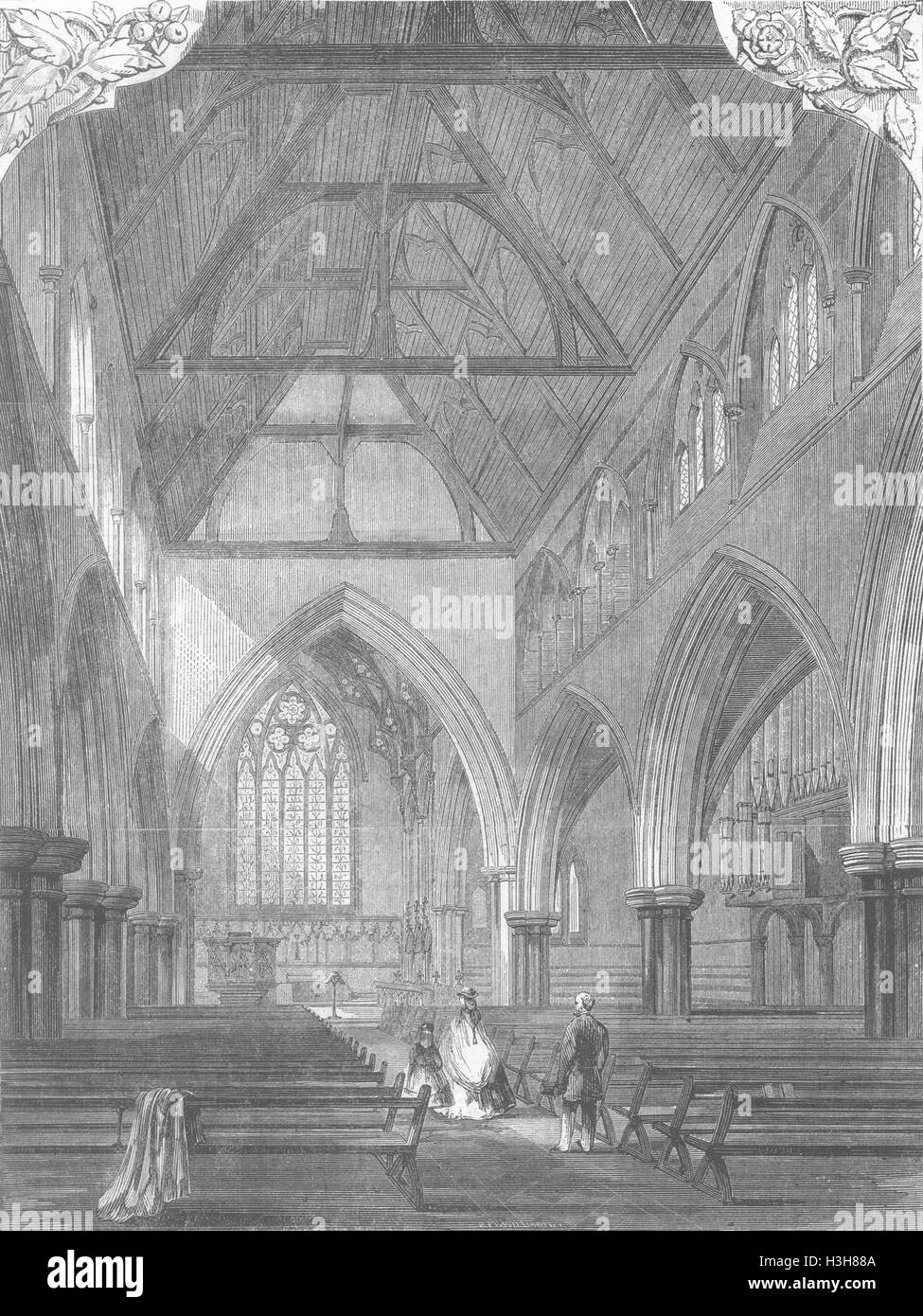 LANDSCAPES All Saints Church, Notting Hill 1866. Illustrated London News - Stock Image